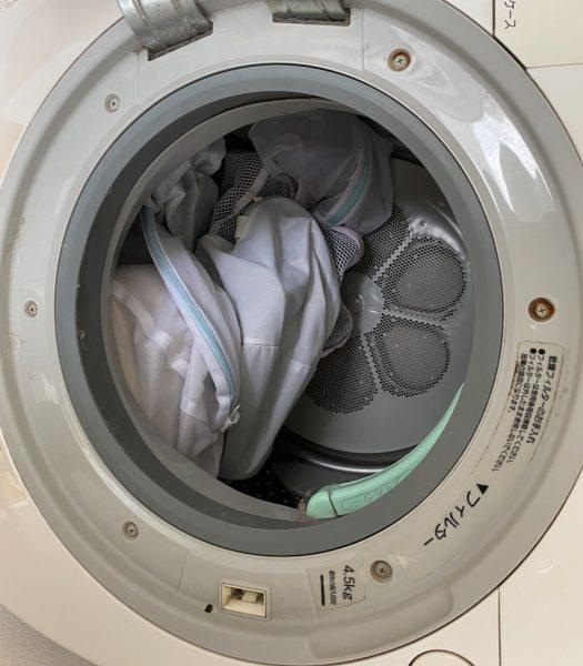 洗濯機に入れた